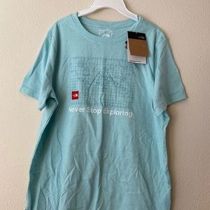 the north face women tee shirt ,size L,